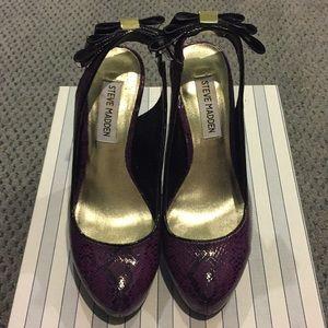 Steve Madden purple snake skin heels sz 6.5